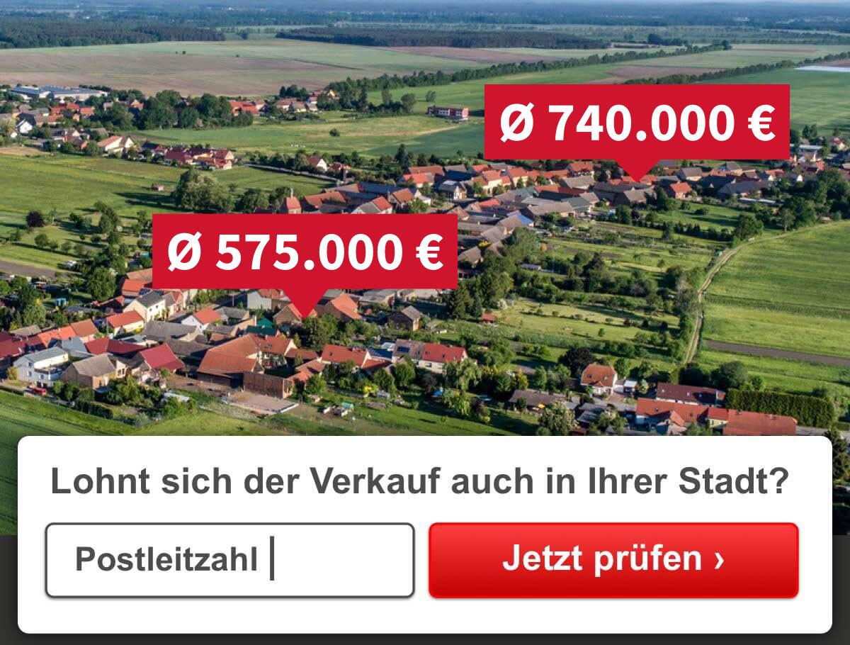 Luftaufnahme und Immobilienpreise